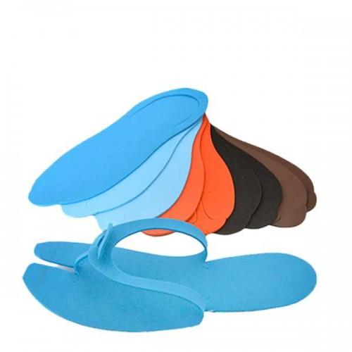 Цветни чехли за еднократна употреба - 24 броя