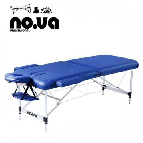 Алуминиева кушетка за масаж, синя, двусекторна - NO.VA Aero NV22