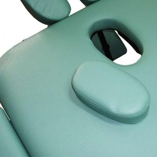 Алуминиева масажна кушетка, светлозелена, двусекторна - NO.VA Aero NV22