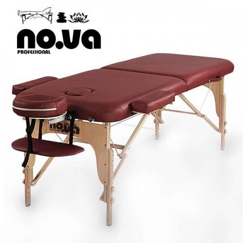 Дървена Кушетка За Масаж NO.VA Standart NV22 в цвят бордо