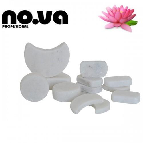Комплект Бели Мраморни Камъни За Масаж 12 броя