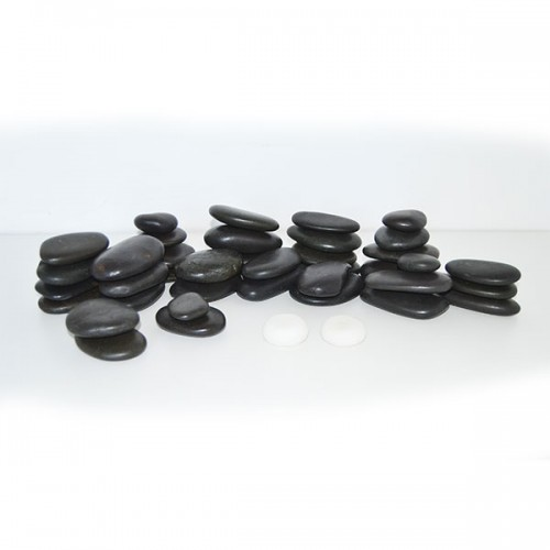 Комплект 40 бр. Вулканични Камъка За Масаж – Базалт
