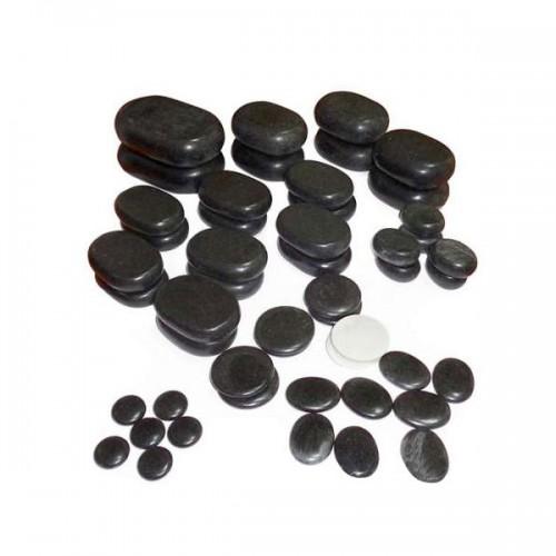 Комплект вулканични камъни от базалт - 50 бр.