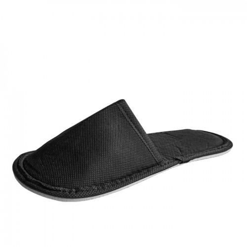 Плътни ТНТ чехли с твърда подметка, Черен цвят