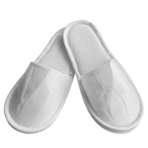 Плътни ТНТ чехли с твърда подметка, Бял цвят