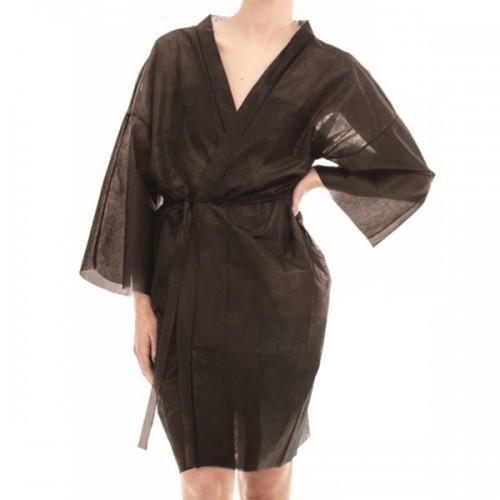 Кимоно за еднократна употреба от нетъкан текстил - черно