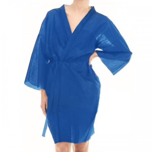 Кимоно за еднократна употреба от нетъкан текстил - синьо