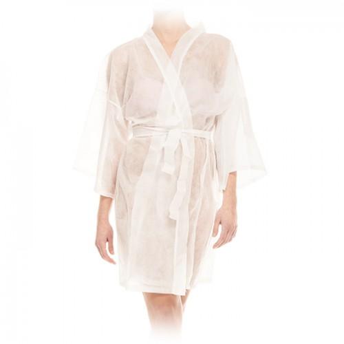 Кимоно за еднократна употреба от нетъкан текстил - бяло
