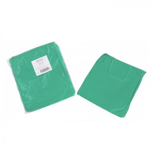 Нестерилна медицинска престилка от нетъкан текстил Softcare, Зелен цвят