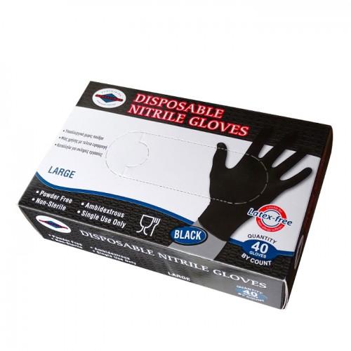Еднократни ръкавици от нитрил, L размер, 40 броя