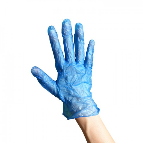 Еднократни ръкавици от винил 100 броя сини