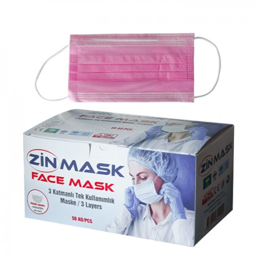 Трислойни медицински маски Zin mask - 50 броя